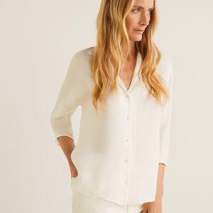 NWT MANGO Camp-collar soft shirt